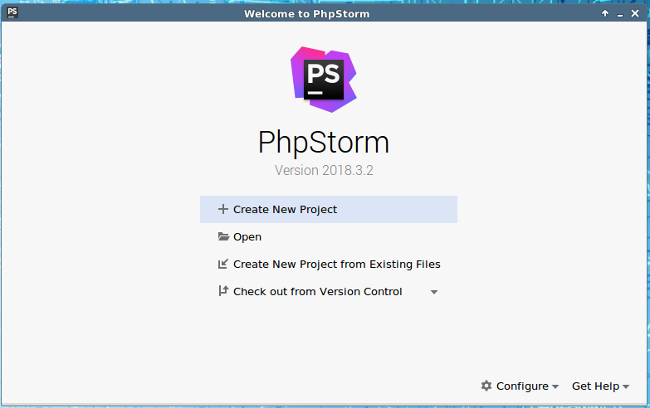 PHPStrom New Project