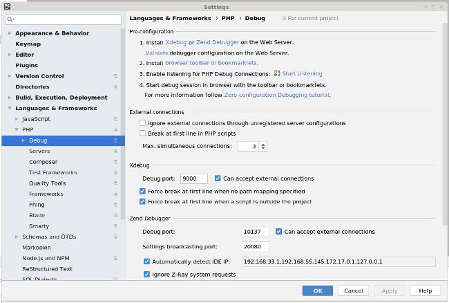 PHPStorm XDegug Integration